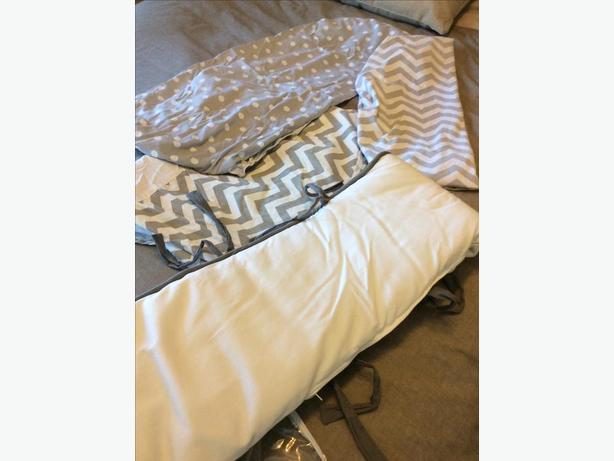 Crib bedding and change pad