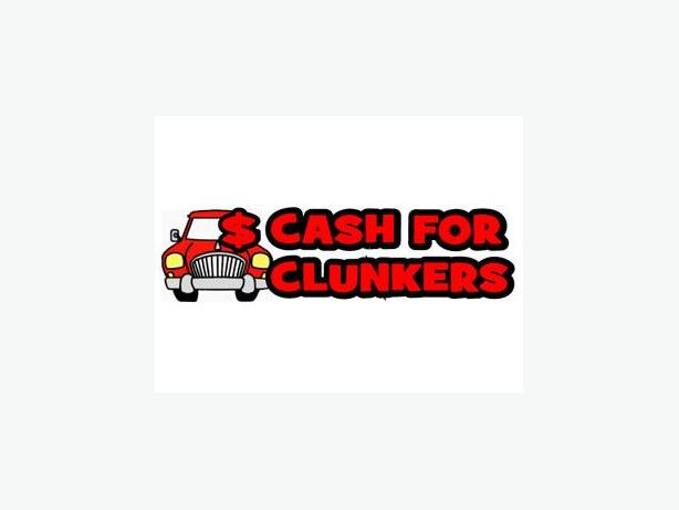 Cash for clunkers no less than $40 and upto $150
