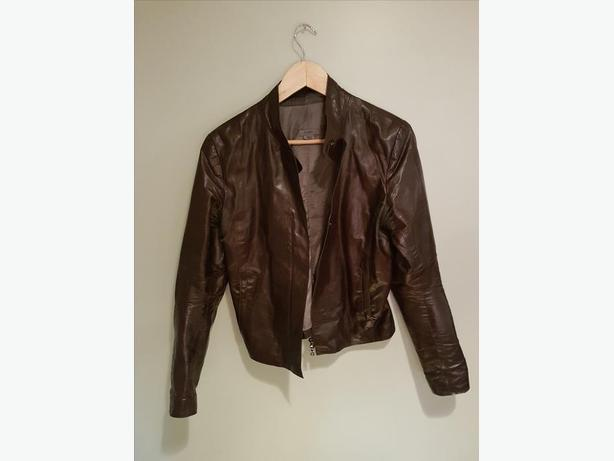 842bd933d31 m0851 Leather Jacket (LAL6735 brown size10) Burnaby (incl. New ...