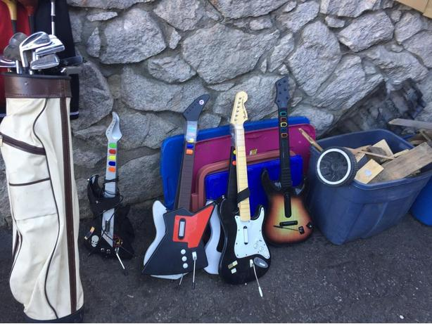 Assorted Guitar Hero Guitars