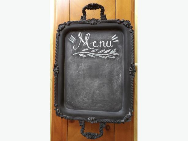 Chalkboard Vintage Tray with Handles - Beautiful Wedding Prop!