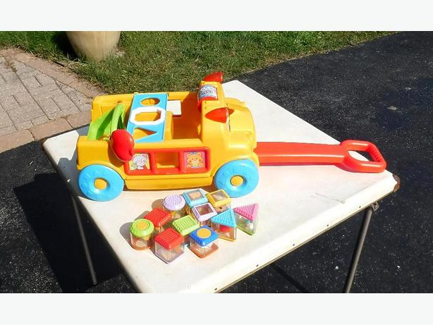 Fisher Price Peek-a-Block Sort and Roll School Bus