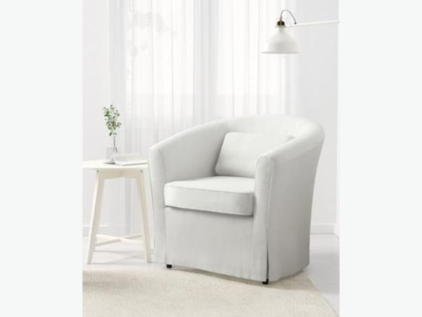 Ikea Tullsta White Tub Chair / Armchair With Brand New, Never Used Cover!