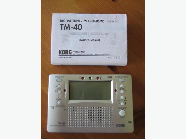 Digital Tuner Metronome TM-40
