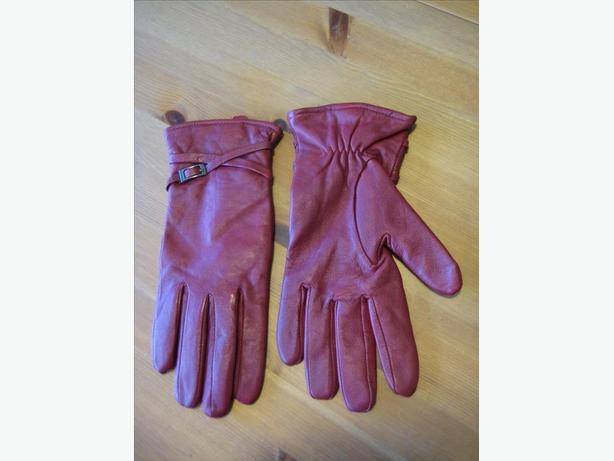 Red Leather Gloves, Buttery-Soft