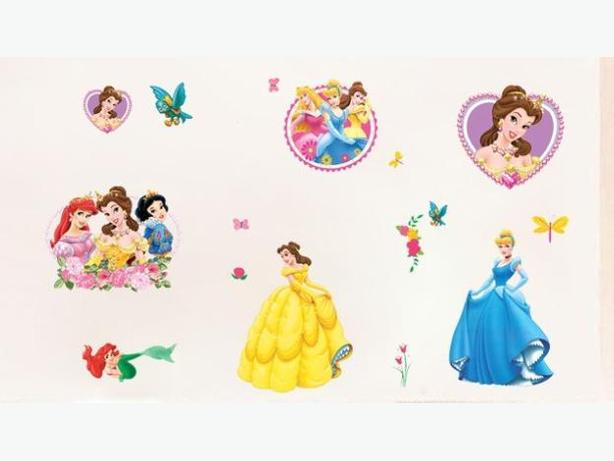 New 16 Piece Princess Removable Wall Stickers - $10 each