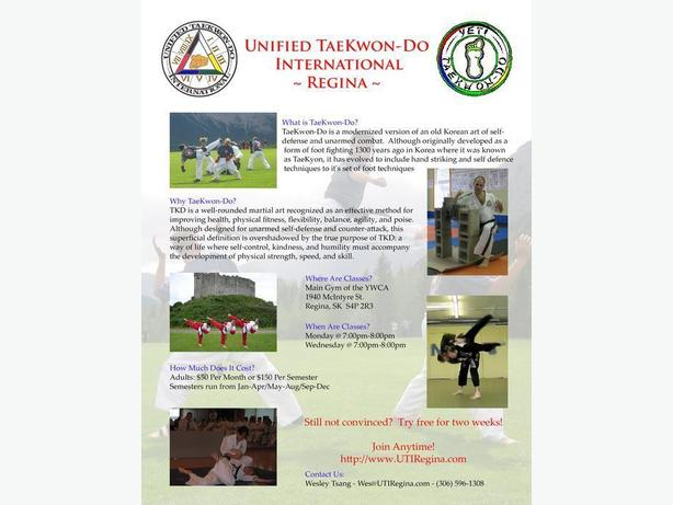 Looking for a Martial Art?  Try TaeKwon-Do!