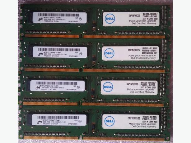 $40 -OBO- 8GB Desktop RAM 4x2GB PC3-10600 DDR3 -1333MHz