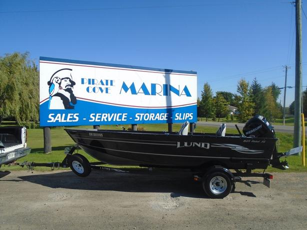 2009 Lund 1625 Rebel XL Tiller Black/Silver