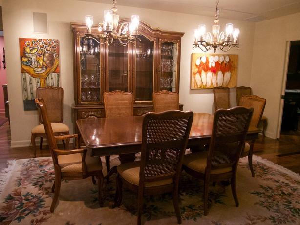 Henrodon brand walnut dining room