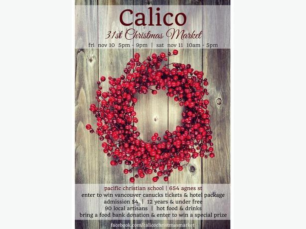 31st Annual Calico Christmas Market - Accepting New Artisans (Victoria)