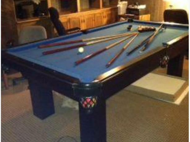 4x8 Dufferin pool table delivery included
