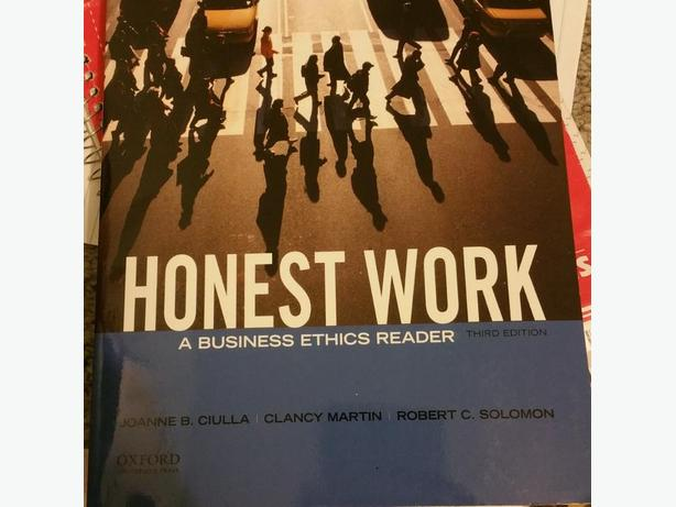 Honest Work A business Ethics Reader Third Edition