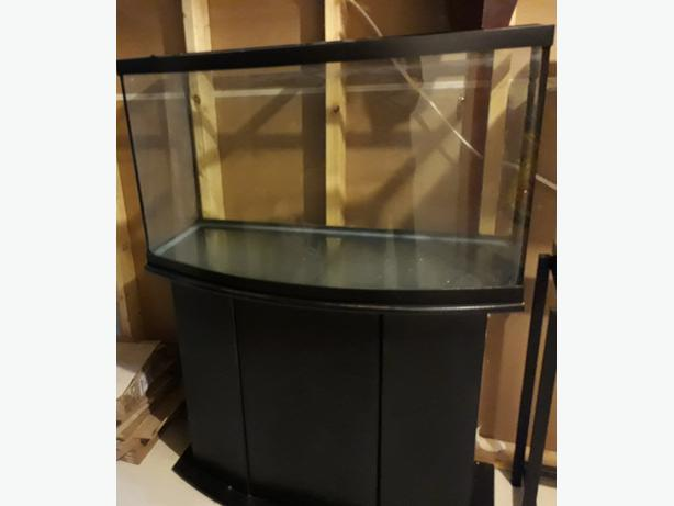 45 gallon bow shaped fish tank