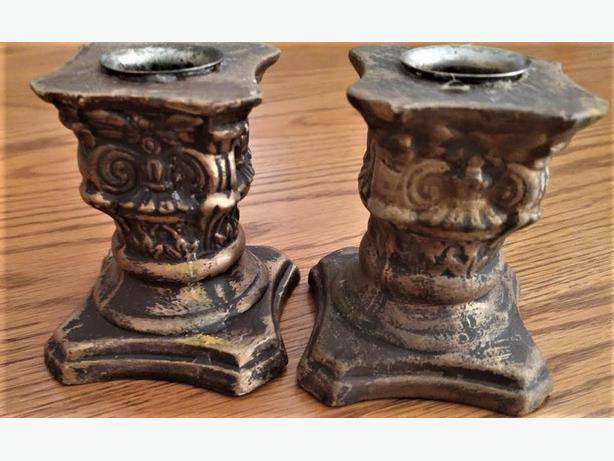 TWO TAPER CANDLESTICK HOLDERS