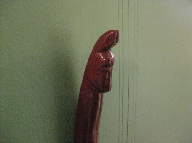HAND CARVED KANGAROO HEAD WALKING STICK
