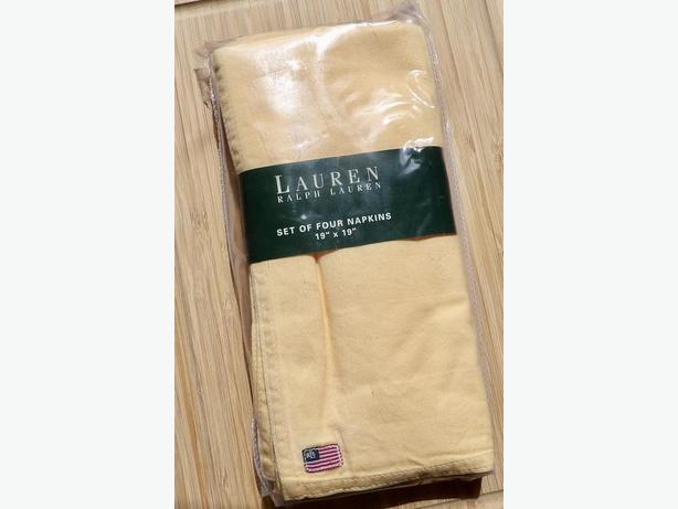NEW in Package! Set of 4 Ralph Lauren Home Napkins - Fall Decor