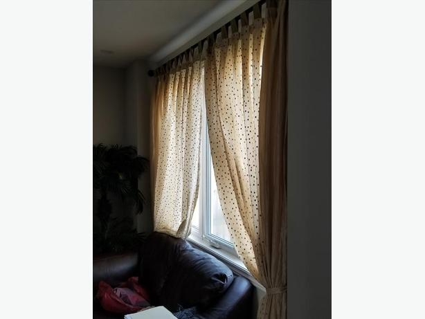 Curtains with the rods extends