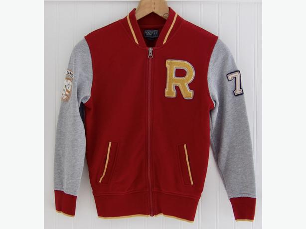 ROOTS KIDS  Boys Varsity Jacket - Size Medium  7-8 Years