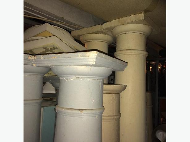 Antique Classic House Columns Roman Tuscan Capital and Base