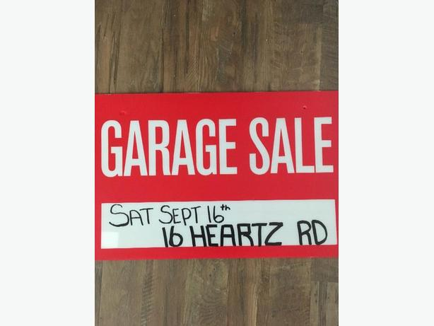 Family Yard Sale! This Saturday Sept 16th.         830-1pm.        16 Heartz Rd.
