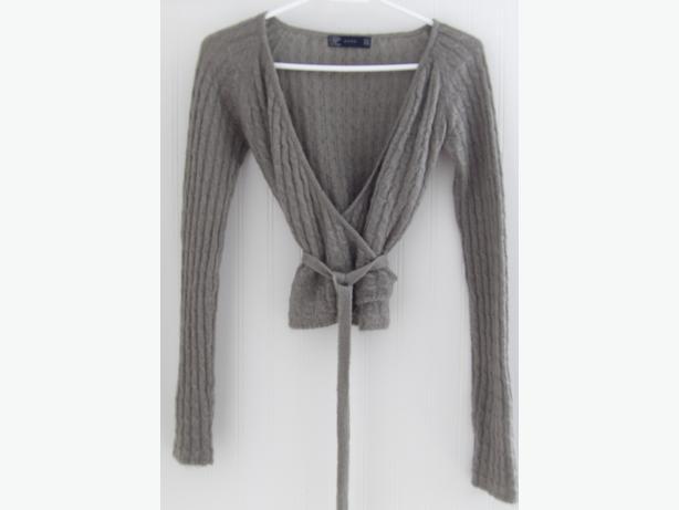ZARA Wrap Cable Knit Women's Sweater