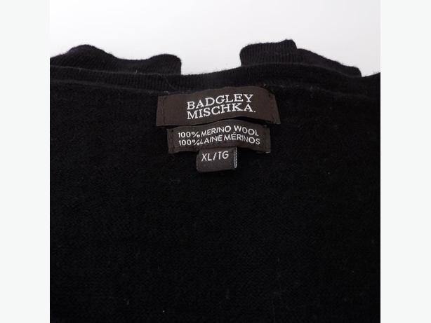 Badgley Mischka Ladies Merino Wool Black Sweater