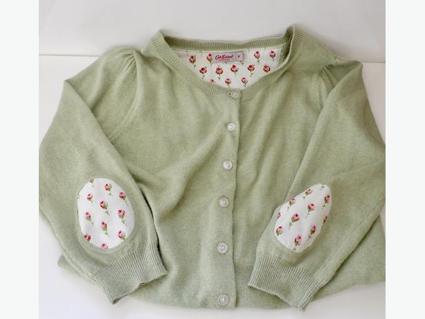 CATH KIDSTON London Cardigan Sweater - Rosebud Fabric Accents