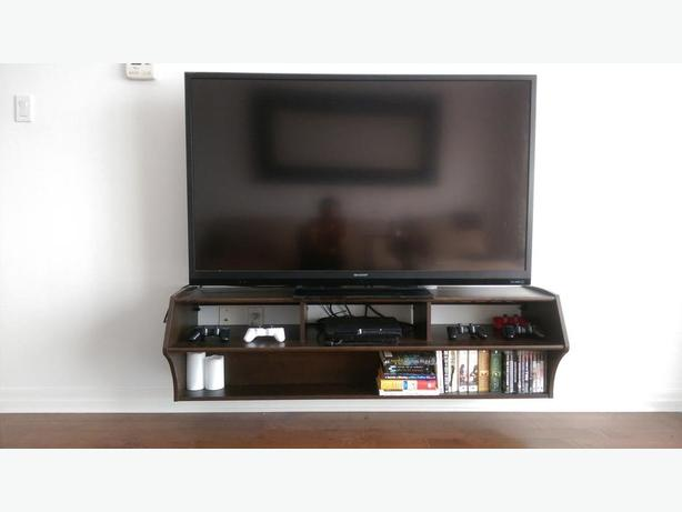 Floating TV Stand, 60-Inch, Espresso