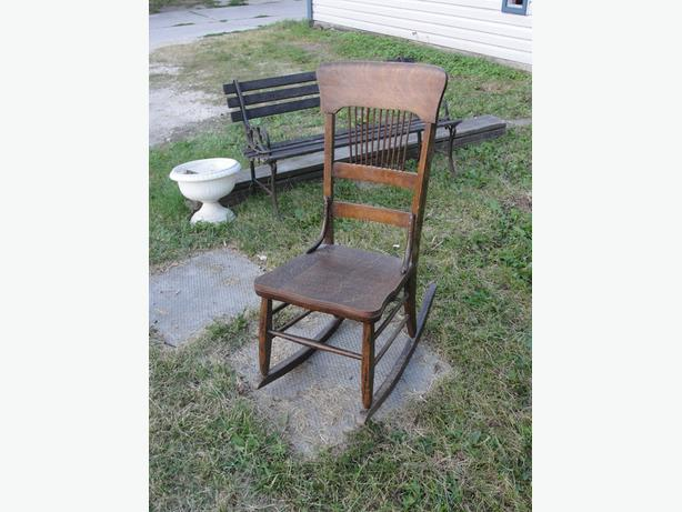 antique hardwood rockingchair