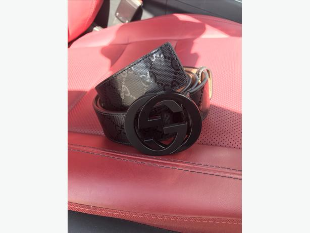 Gucci black gloss GG belt - Authentic TDOT
