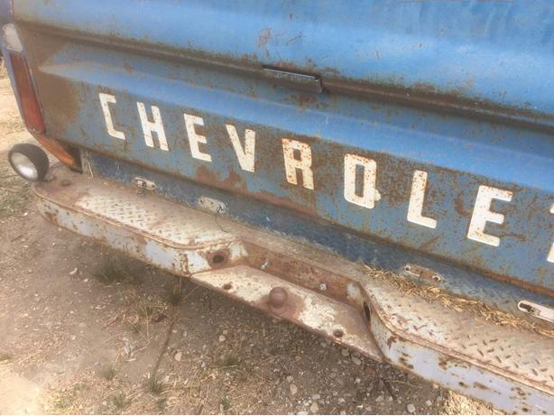 1968 Chev Truck Box Trailer w differential/checkerplate deck/trailer