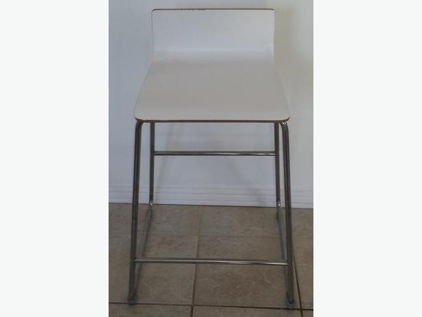 Two White Stools For Sale