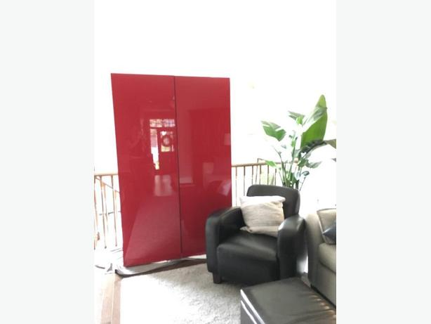 Gloss Red Ikea Besta Cabinets (2)