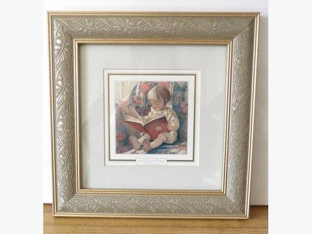 """A Quiet Corner"" Jessie Willcox Smith Framed Print"