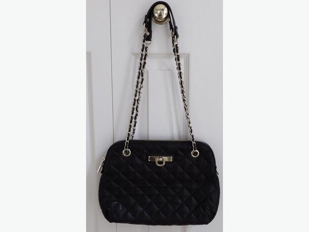 Beautiful DKNY Black Quilted Leather Purse - As NEW