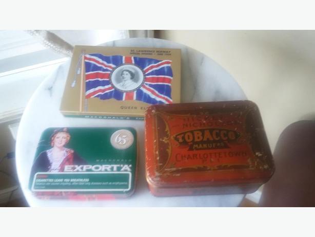 Antique Collectable Cigarette Tins