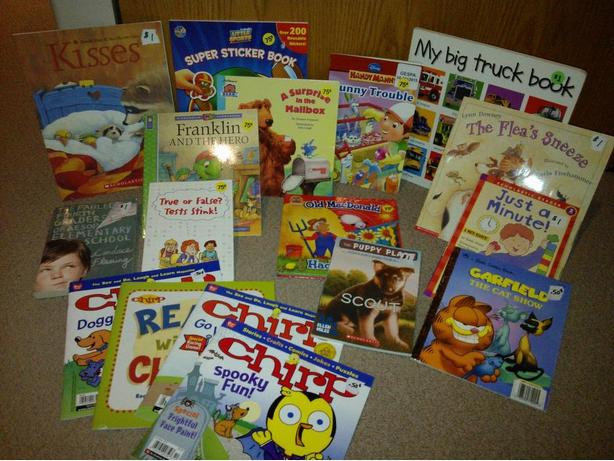 17 kids/youth  books available for sale various prices