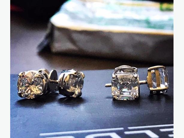 Desert Diamond Stud Earrings