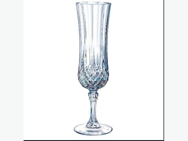 sets of 4 crystal champagne flutes, wine glasses, and water glasses