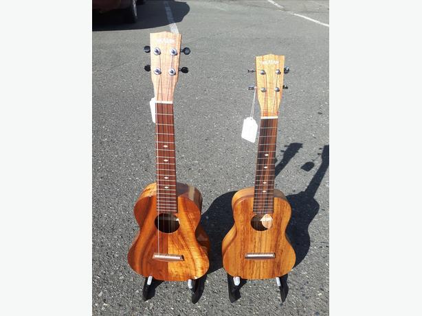 Kala Elite Hawaiian Koa Ukuleles Made in USA Duncan, Cowichan