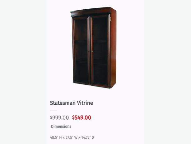 Bombay Statesman Lower Wood Door Cabinet Statements Vitrine