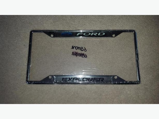 Ford Explorer License Plate Holder