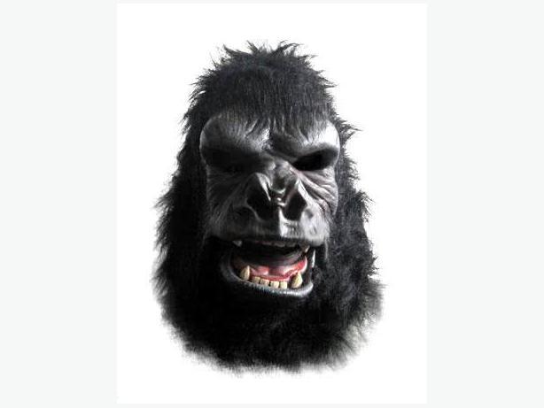 'Moving Mouth' King Kong Costume w/ mask, shirt, manacles, SFX biplane, doll