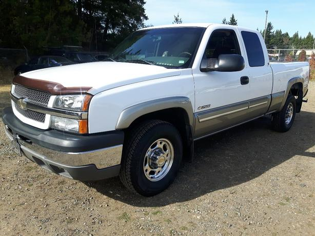 2003 USED CHEVROLET SILVERADO LT 2500HD 4X4 FOR SALE IN PARKSVILLE