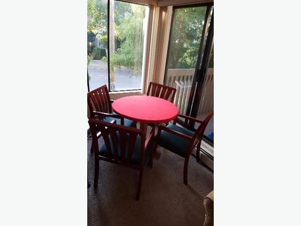FREE: Round dining table and chairs