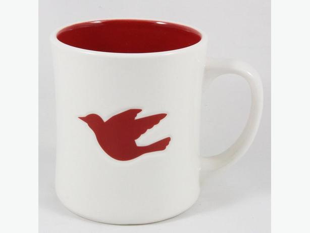 Starbucks Coffee Mug 2008 Dove of Peace Christmas Holiday