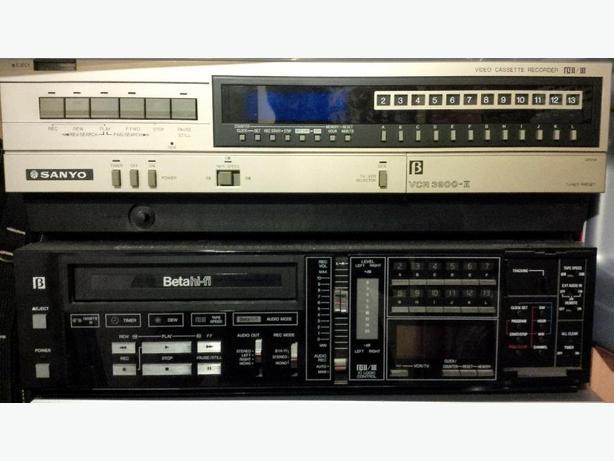 2 Sanyo Beta VCR's