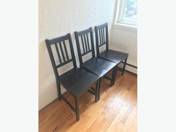 3 x Ikea Wood Chairs