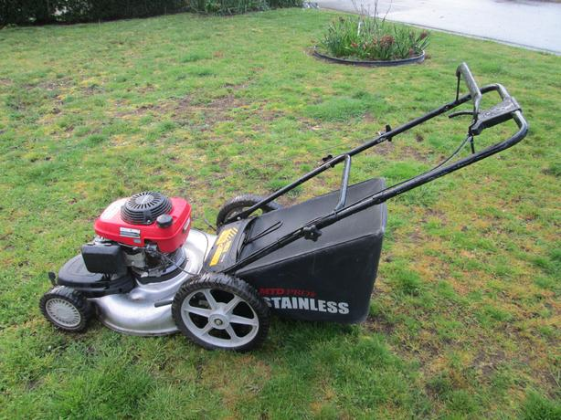 Stainless Steel Deck Honda Engine Lawnmower